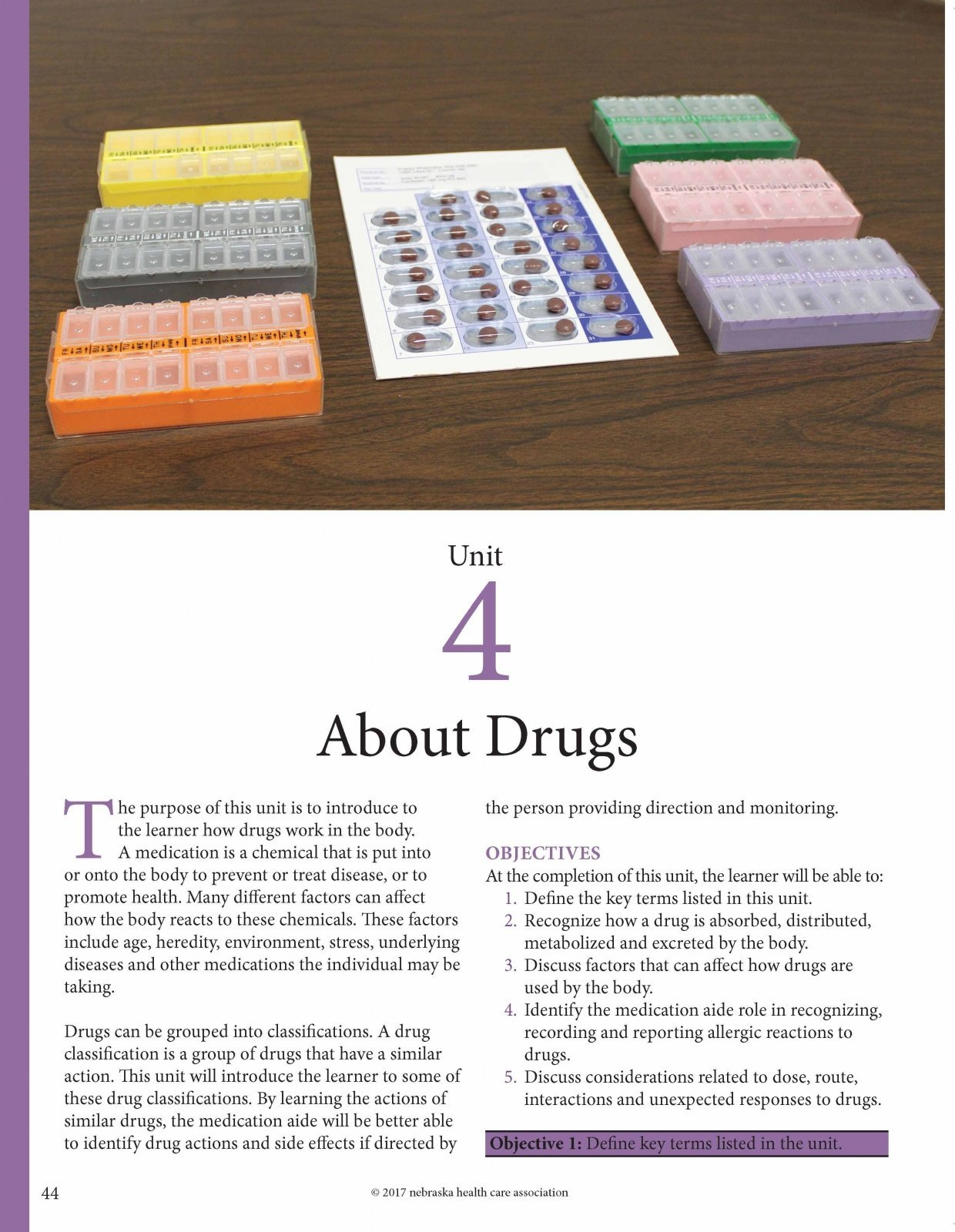 Medication Aide Training – Student Manual Fourth Edition (2017)